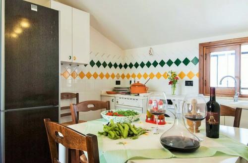la cucina di un alloggio